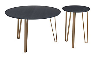 Zuo Modern Somme Accent Table Set, Black, large