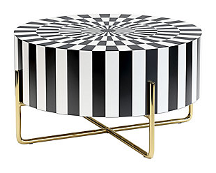 Zuo Modern Thistle Coffee Table Black and White, , rollover