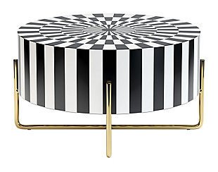 Zuo Modern Thistle Coffee Table Black and White, , large