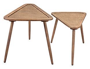 Zuo Modern Jonathan Side Tables (Set of 2) Natural, , large