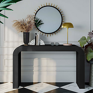 TOV Hump Black Console Table, Black, rollover