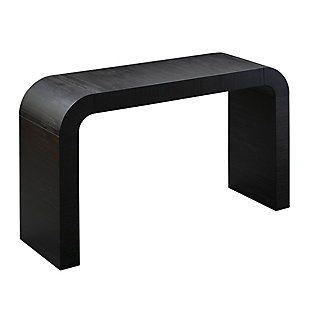 TOV Hump Black Console Table, Black, large