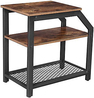 VASAGLE Industrial 3-Tier End Table, , large
