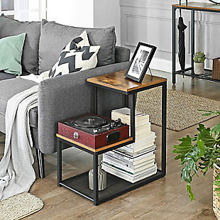 VASAGLE Indestic 2-Tier End Table with Mesh Shelf, , rollover