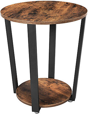 VASAGLE Round Industrial End Table, , large
