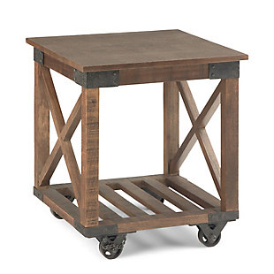 Simpli Home Industrial End Table, , large