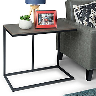 Simpli Home Contemporary Wide C Side Table, , rollover