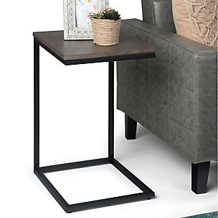 Simpli Home Industrial Contemporary C Side Table, , rollover