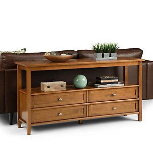 Simpli Home Rustic Wide Console Sofa Table, , rollover