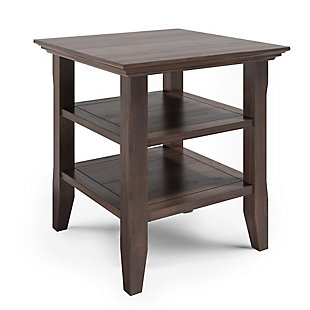 "Acadian Solid Wood 19"" Rustic End Table, , large"