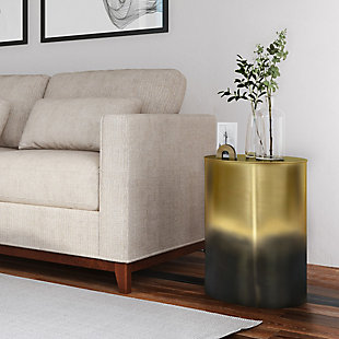 Curtis Metal Cylinder Accent Table, , rollover
