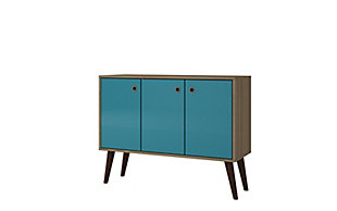Manhattan Comfort Bromma Buffet Stand, Aqua Blue, large
