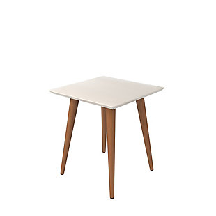 Manhattan Comfort Utopia High Square End Table in Off White, Off White, large