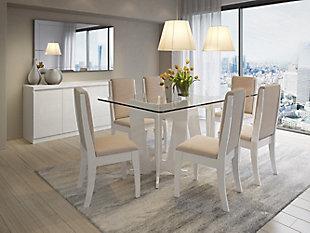Manhattan Comfort Viennese Sideboard in White Gloss, White, rollover