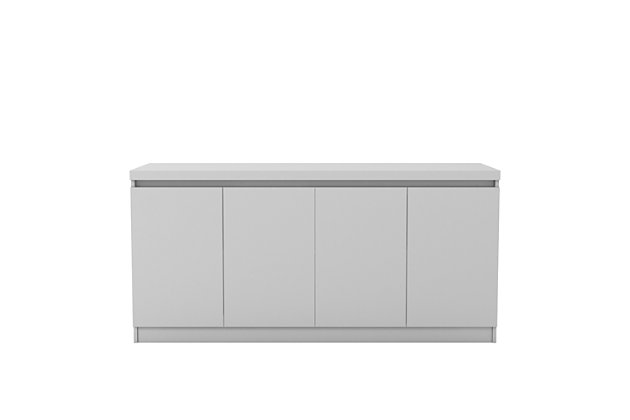 Manhattan Comfort Viennese Sideboard in White Gloss, White, large