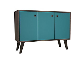 Manhattan Comfort Bromma Sideboard in Oak and Aqua Blue, Aqua Blue, large
