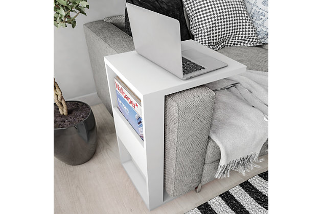 Manhattan Comfort Marine Coffee and Side Table - Set of 2 in White, White, large