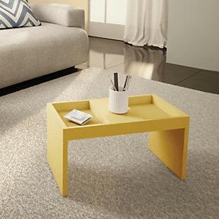 Manhattan Comfort Marine Coffee Table in Yellow, Yellow, rollover