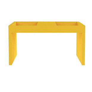 Manhattan Comfort Marine Coffee Table in Yellow, Yellow, large
