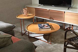 Manhattan Comfort Knickerbocker Accent Table Set of 2 in Cinnamon, , rollover