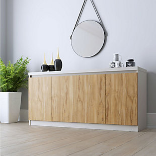 Manhattan Comfort Viennese Sideboard in Cinnamon and Off White, , rollover