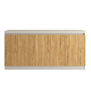 Manhattan Comfort Viennese Sideboard in Cinnamon and Off White, , large