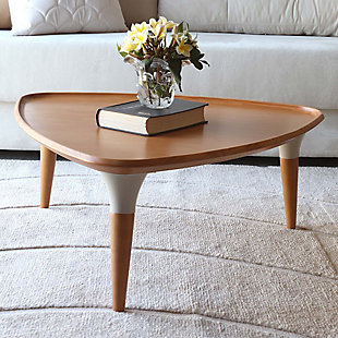 Manhattan Comfort HomeDock Coffee Table in Cinnamon and Off White, , rollover