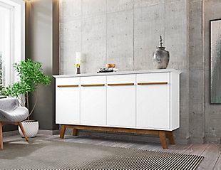 Manhattan Comfort Yonkers Sideboard in White, White, rollover