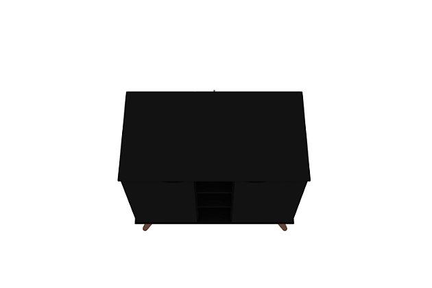Manhattan Comfort Hampton Buffet Stand in Black, Black, large