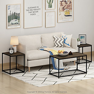 Camnus Modern  Living Room Table Set with One Coffee Table and Two End Tables, , rollover