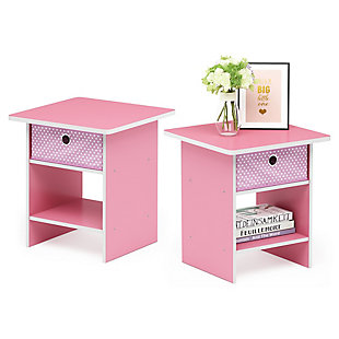Dario End Table with Storage Shelf & Bin Drawer, Set of 2, , rollover