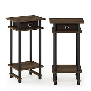 Turn-N-Tube  Tall End Table with Bin, Set of 2, , large