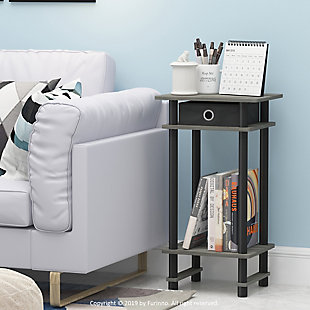 Turn-N-Tube  Tall End Table with Bin, Set of 2, , rollover