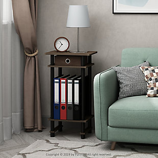 Turn-N-Tube  Tall End Table with Bin, , rollover