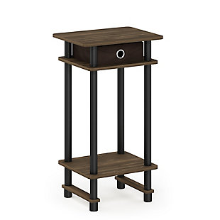 Turn-N-Tube  Tall End Table with Bin, , large