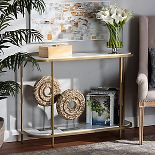 Dominic Gold Metal Console Table, , rollover
