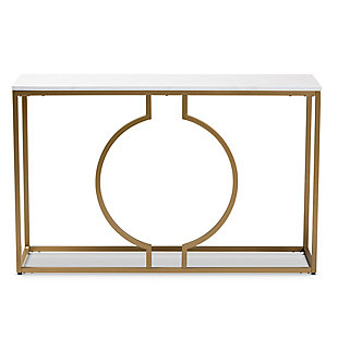 Caldwell Gold Finished Metal Console Table, , large
