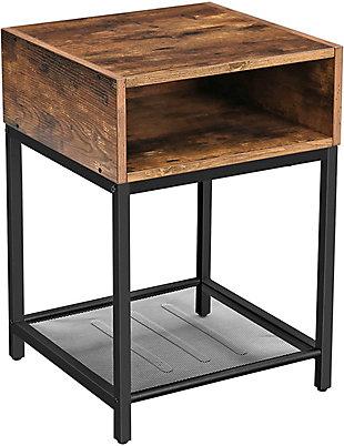 Vasagle Rustic End Table, , large