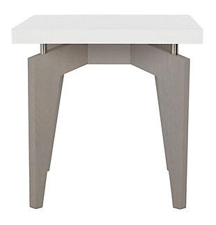 Safavieh Josef End Table, White, large