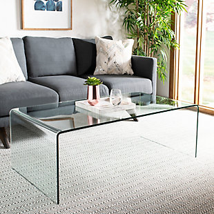 Safavieh Willow Glass Coffee Table, , rollover