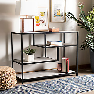 Safavieh Reese Geometric Console Table, Beige, rollover
