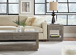 Modus Furniture International Alexandra Solid Wood End Table, , large