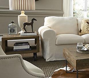 Modus Furniture International Coalburn Reclaimed Wood  Side Table, , rollover