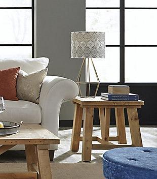 Modus Furniture International Harby Reclaimed Wood  Side Table, , rollover