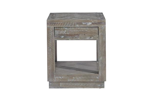 Modus Furniture International Herringbone Solid Wood  End Table, , large