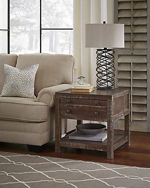 Modus Furniture International Townsend Solid Wood Side Table, , rollover