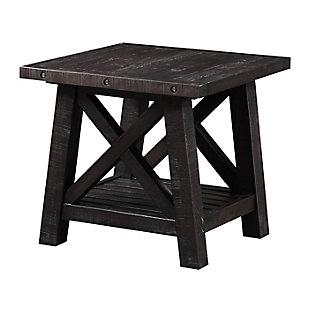 Modus Furniture International Yosemite Solid Wood Side Table, , large