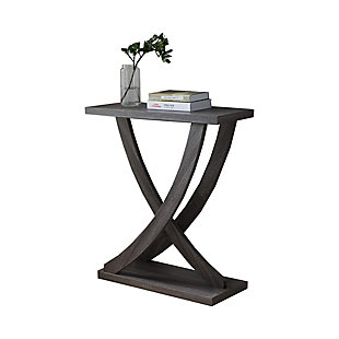 The Urban Port Wooden Console Sofa Side End Table with Curved Legs, , rollover
