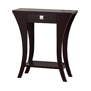 The Urban Port Console Sofa Side End Table with Drawer and Open Shelf, , large