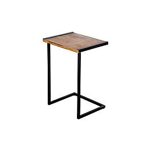 The Urban Port C Shape Mango Wood Sofa End Table, , rollover